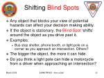 shifting blind spots