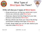 what types of blind spots are there