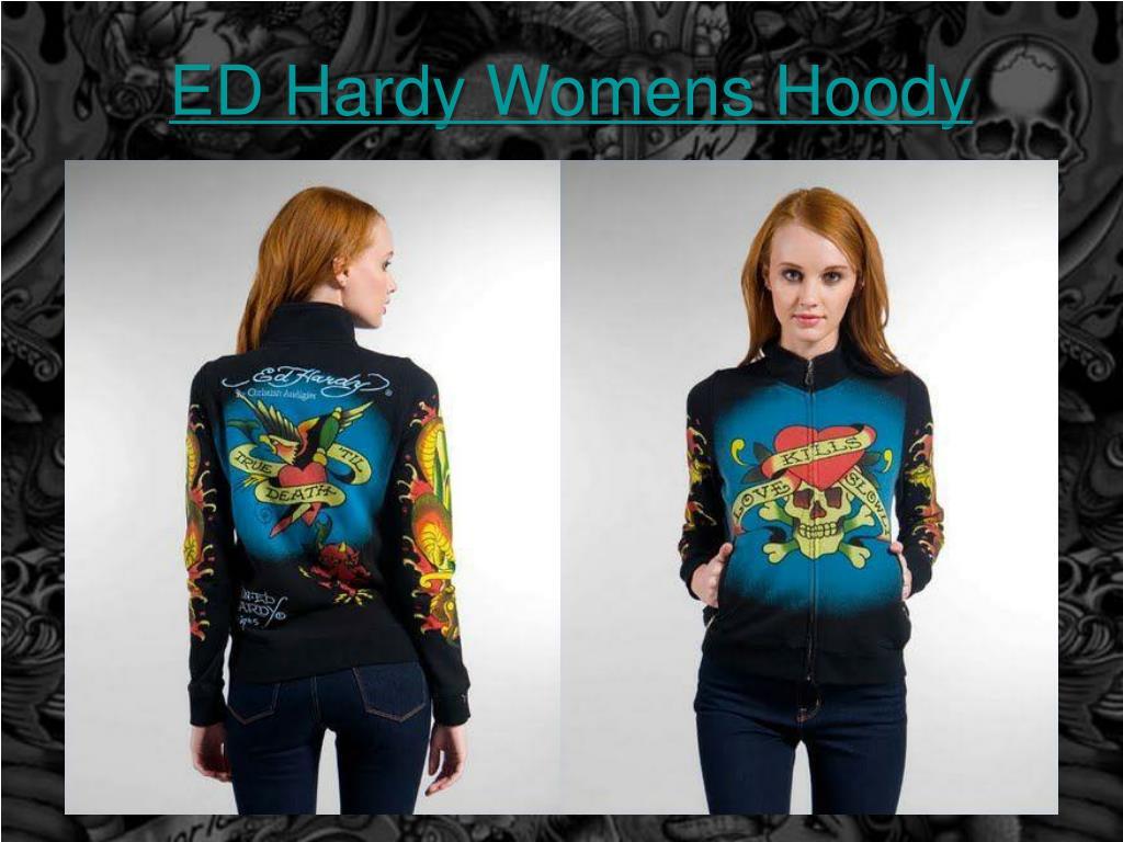 ed hardy womens hoody l.