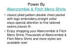 power by abercrombie fitch mens shirts