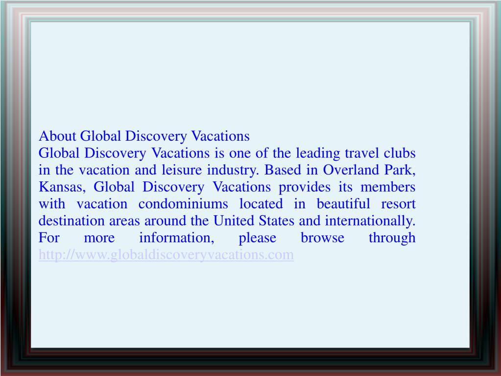 About Global Discovery Vacations