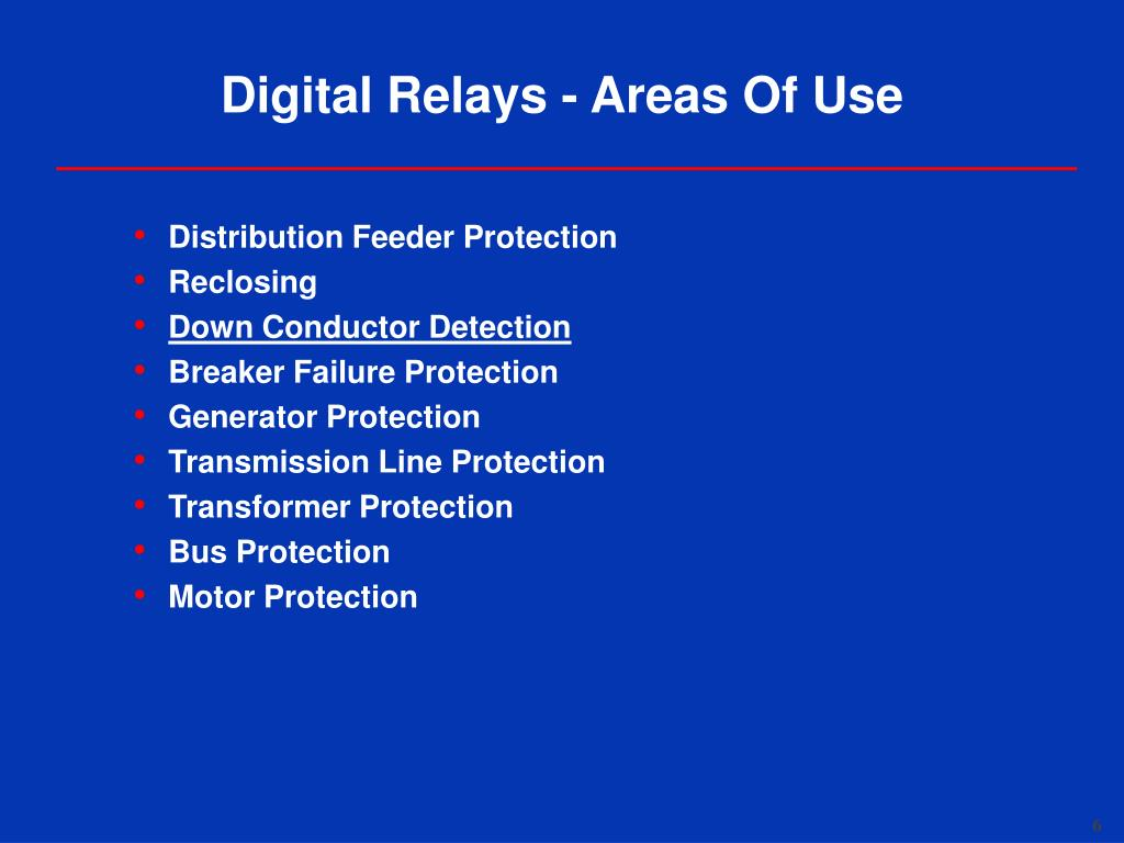 PPT - Overview of Digital Relays PowerPoint Presentation