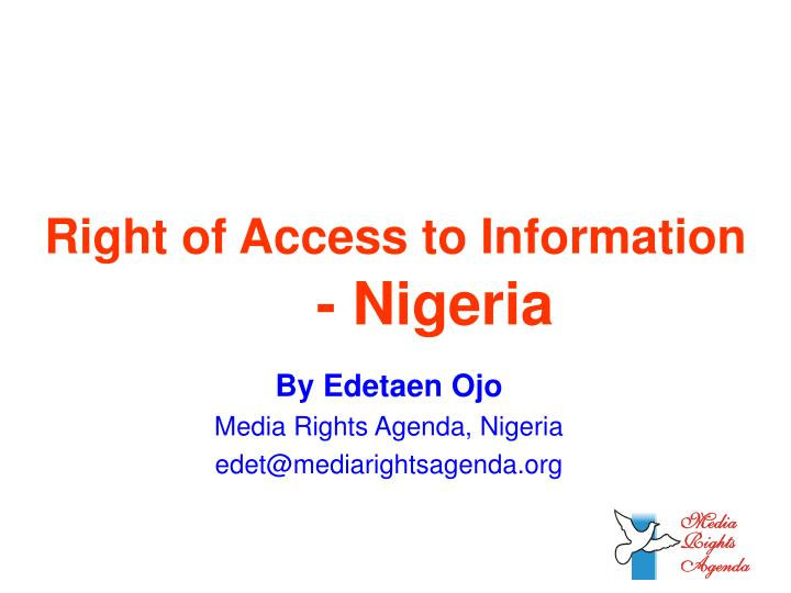 right of access to information nigeria n.