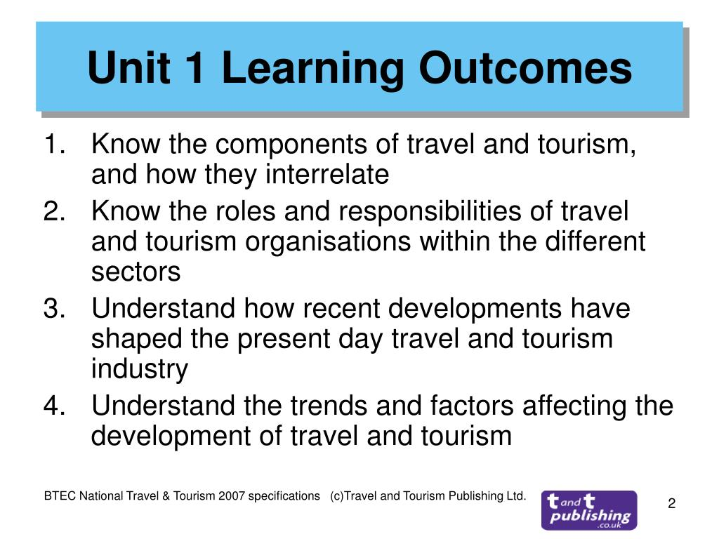Unit 1 Learning Outcomes