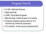 program part b