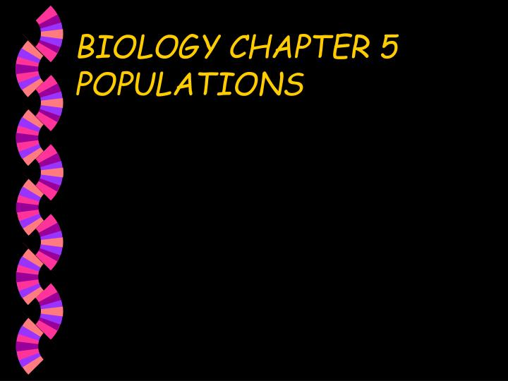 biology chapter 5 populations n.