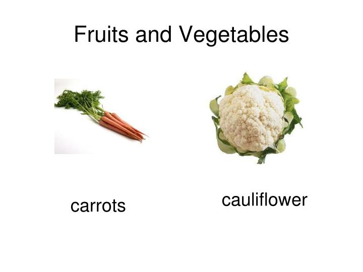 Fruits and vegetables3