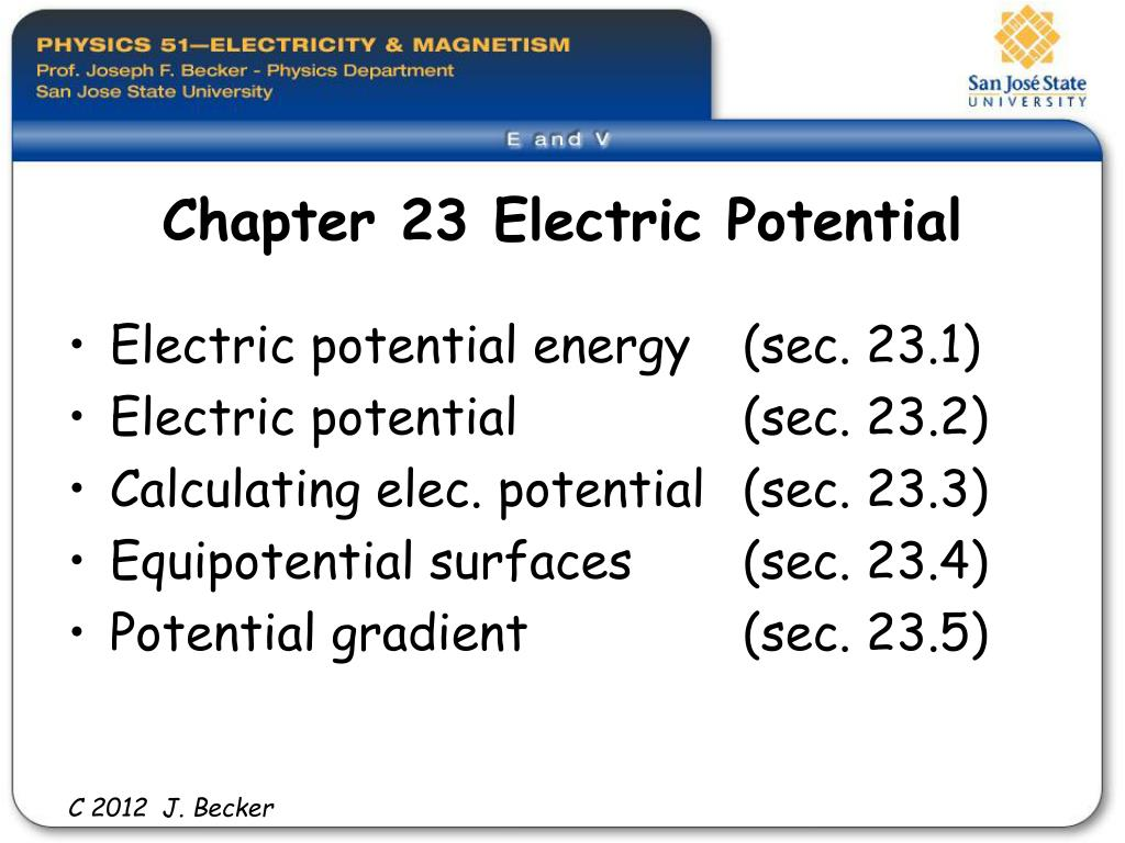 Ppt Chapter 23 Electric Potential Powerpoint Presentation Id297599 Electrostatic Charge Detector Electroscope L