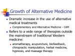 growth of alternative medicine