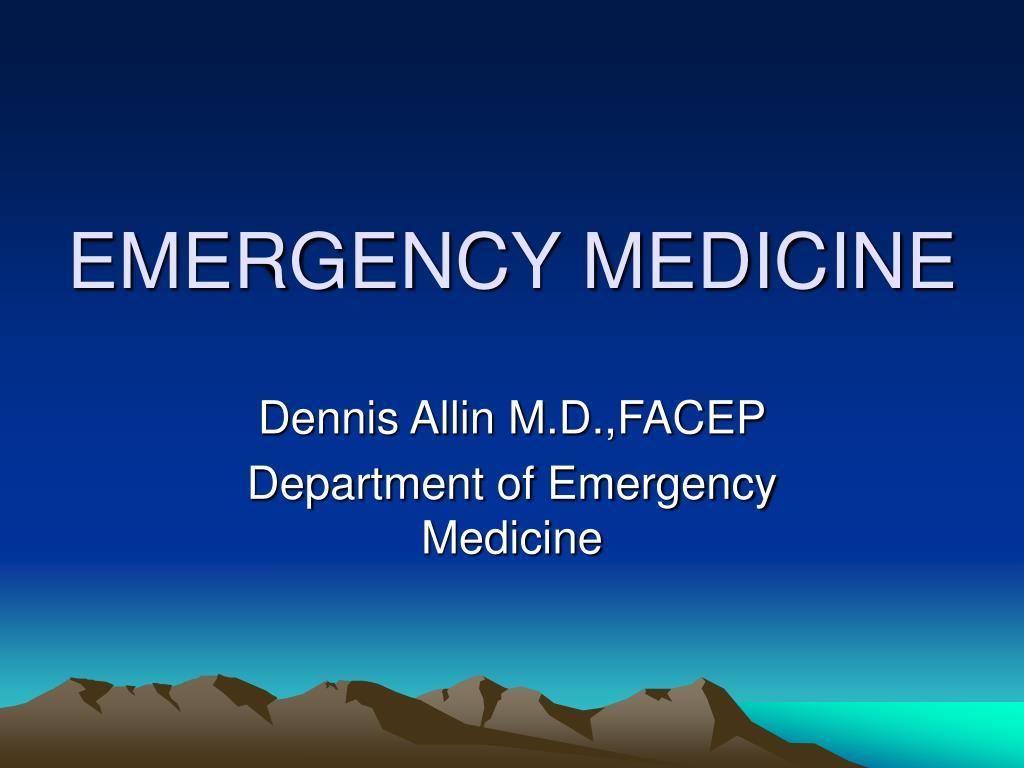 emergency medicine l.