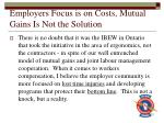 employers focus is on costs mutual gains is not the solution