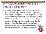 every lu 353 member was sent a copy of the ergo study
