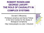robert rosen and george lakoff the role of causality in complex systems