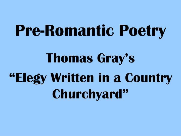 pre romantic poetry n.