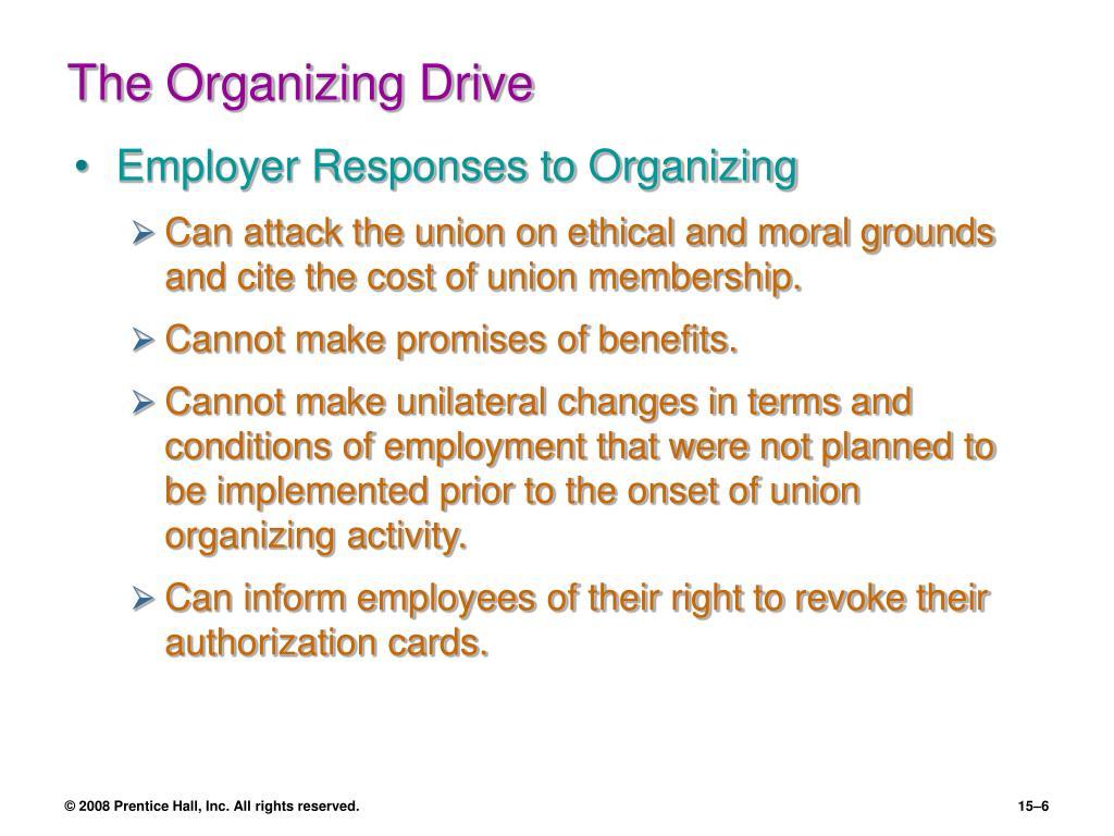 The Organizing Drive