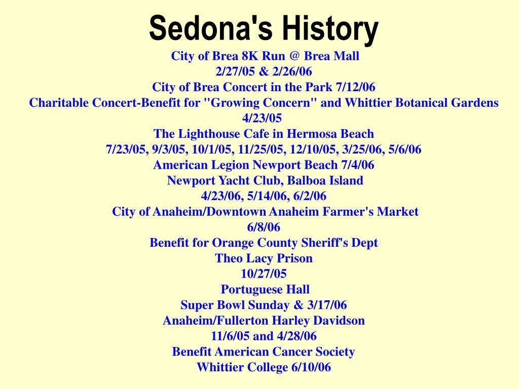 Sedona's History