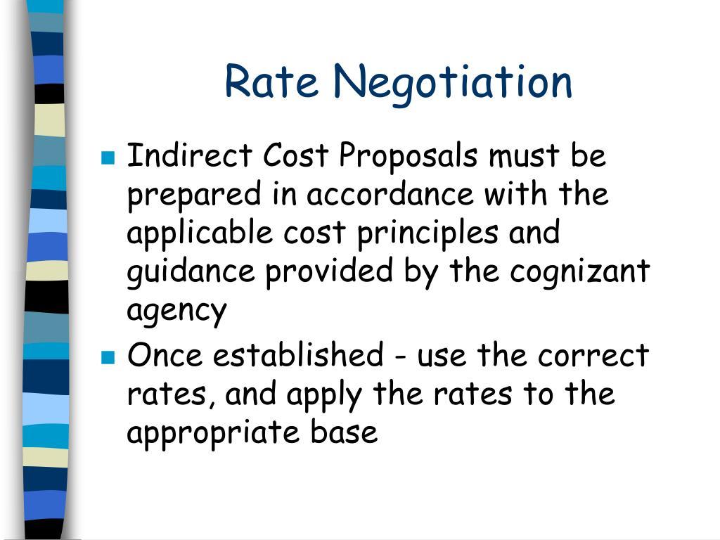 Rate Negotiation