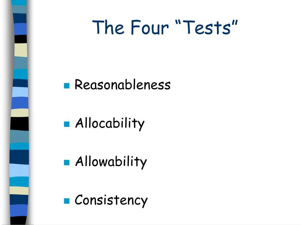 """The Four """"Tests"""""""