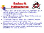 backup maintenance