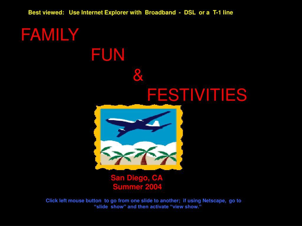 family fun festivities l.