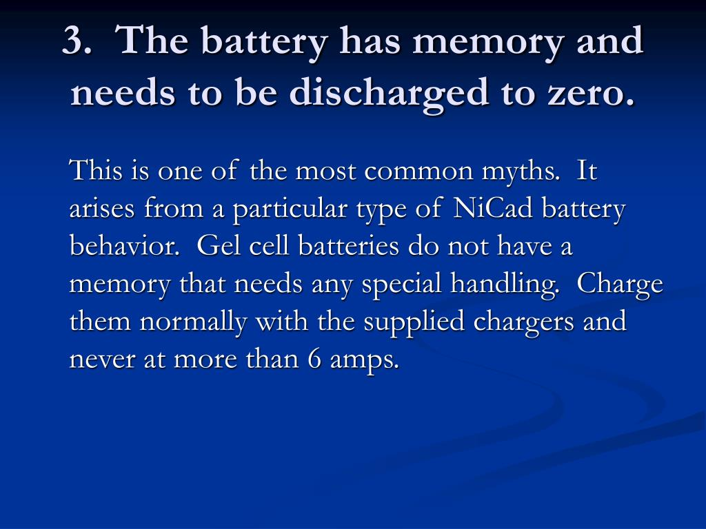 3.  The battery has memory and needs to be discharged to zero.
