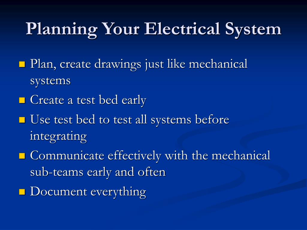 Planning Your Electrical System
