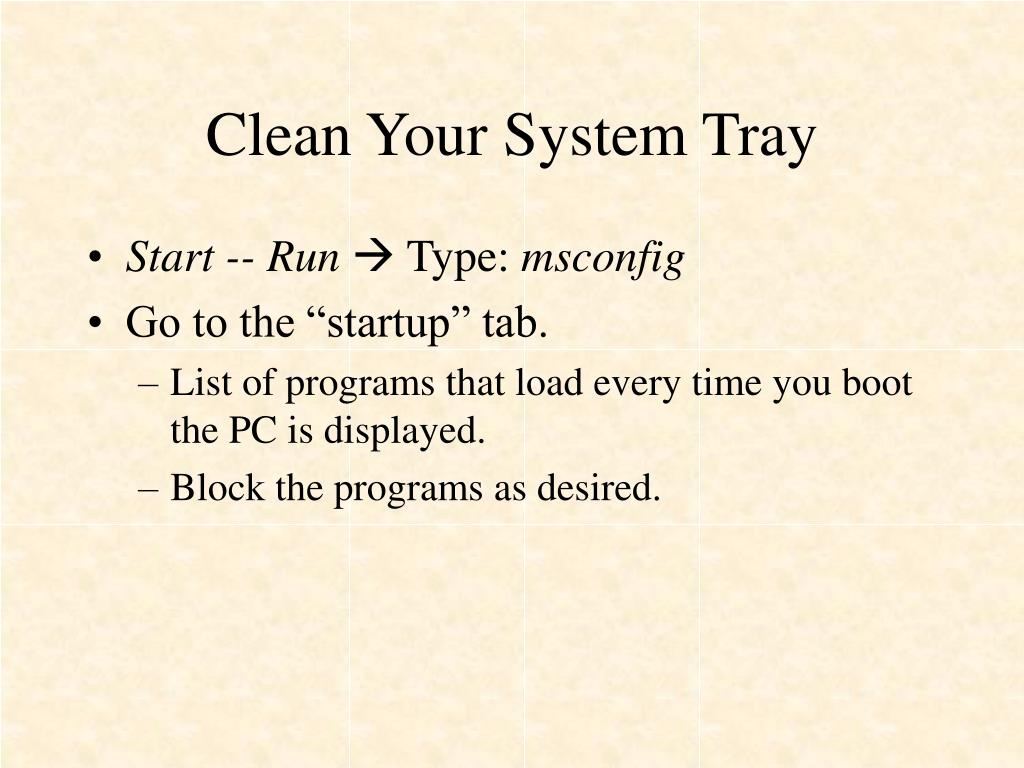 Clean Your System Tray