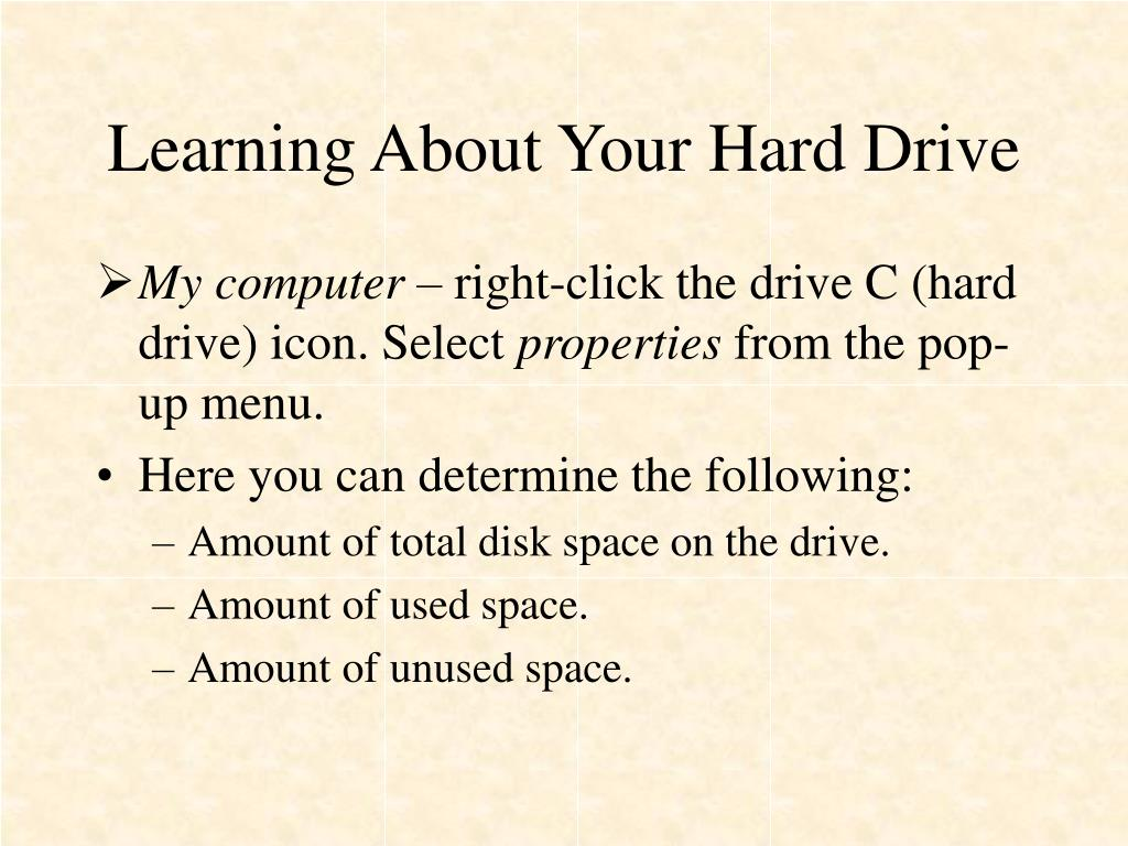 Learning About Your Hard Drive