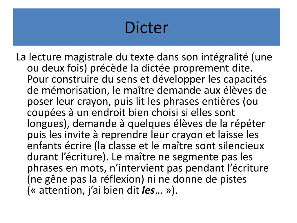Dicter