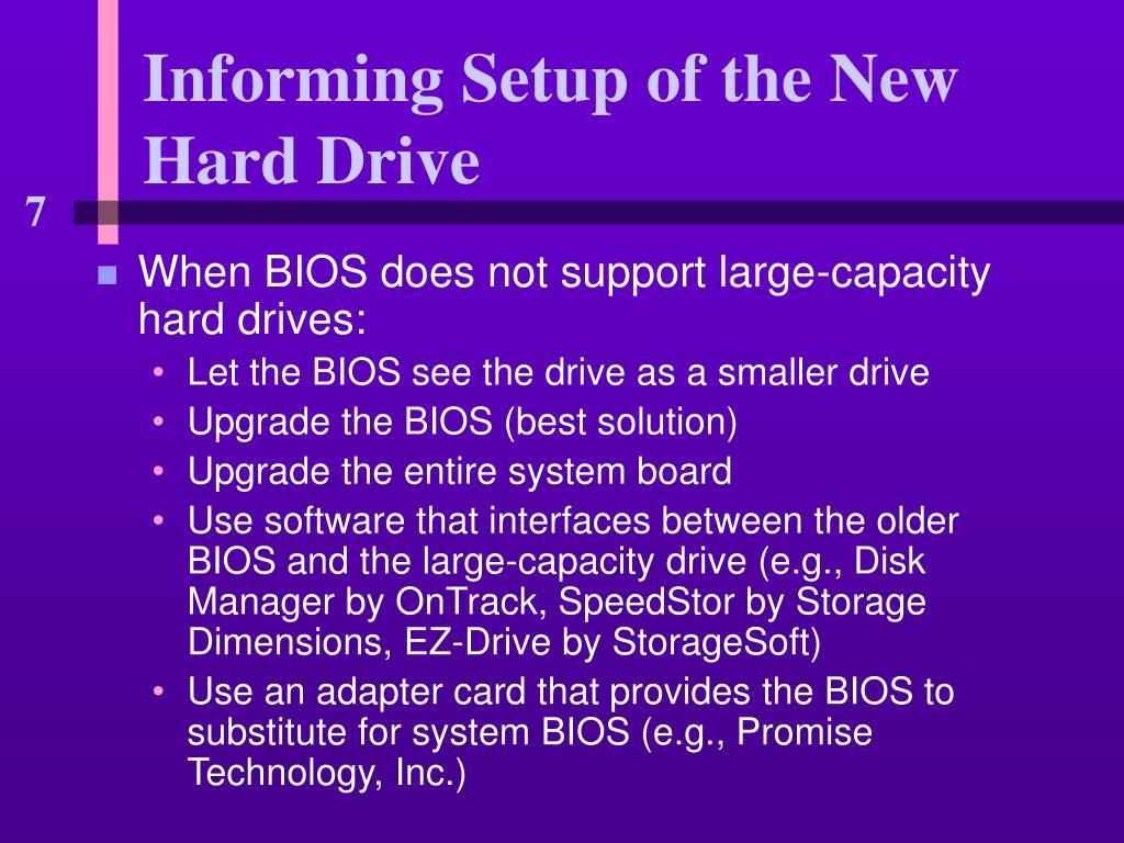 Informing Setup of the New Hard Drive