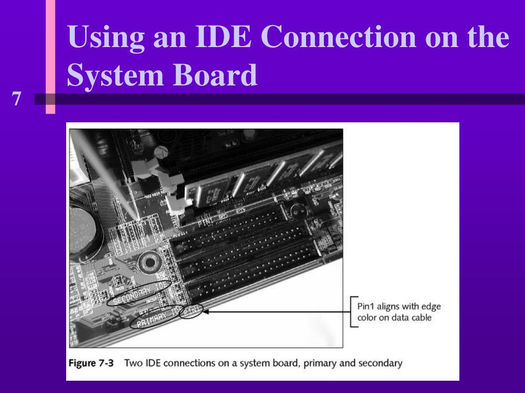 Using an IDE Connection on the System Board