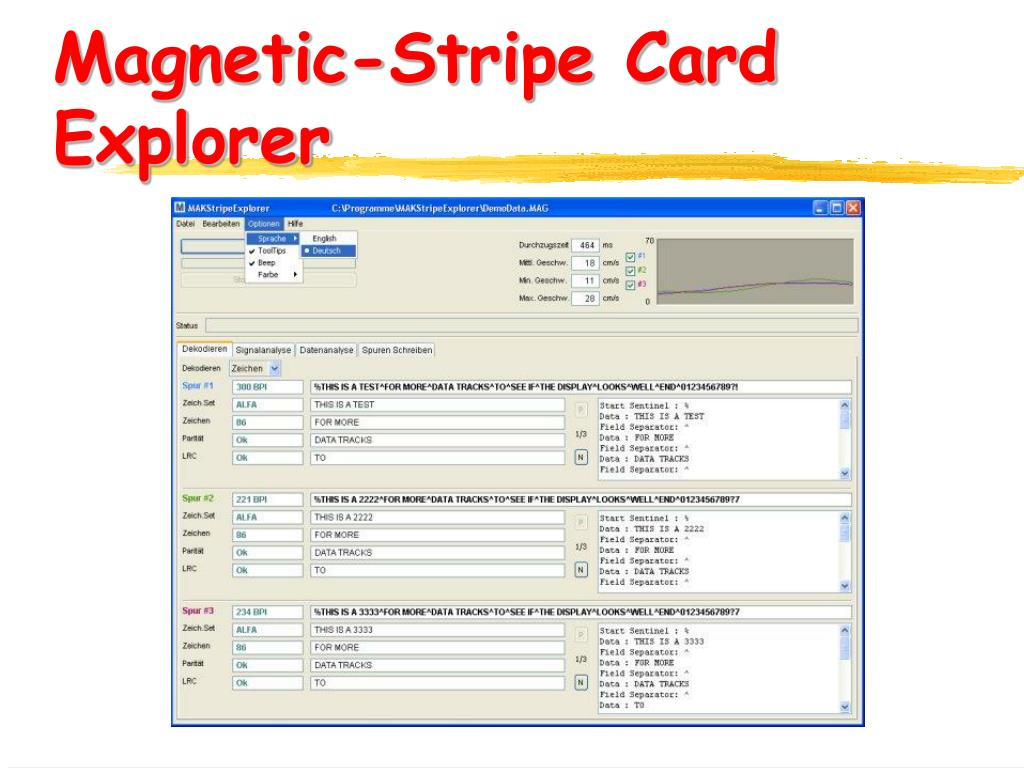 Magnetic-Stripe Card Explorer
