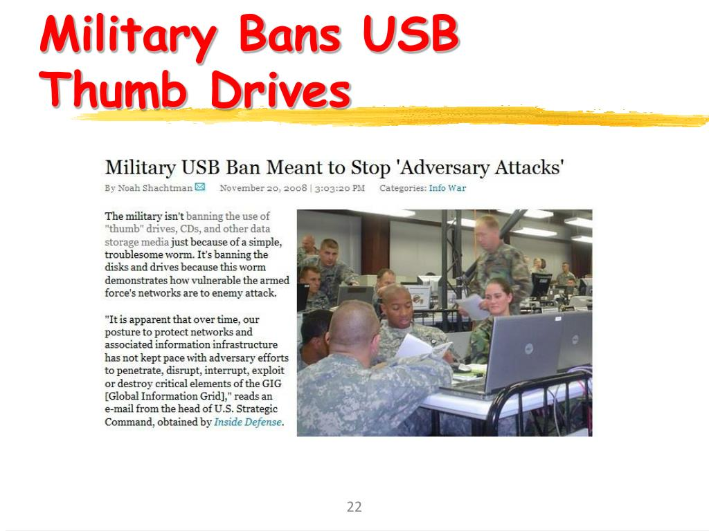 Military Bans USB Thumb Drives