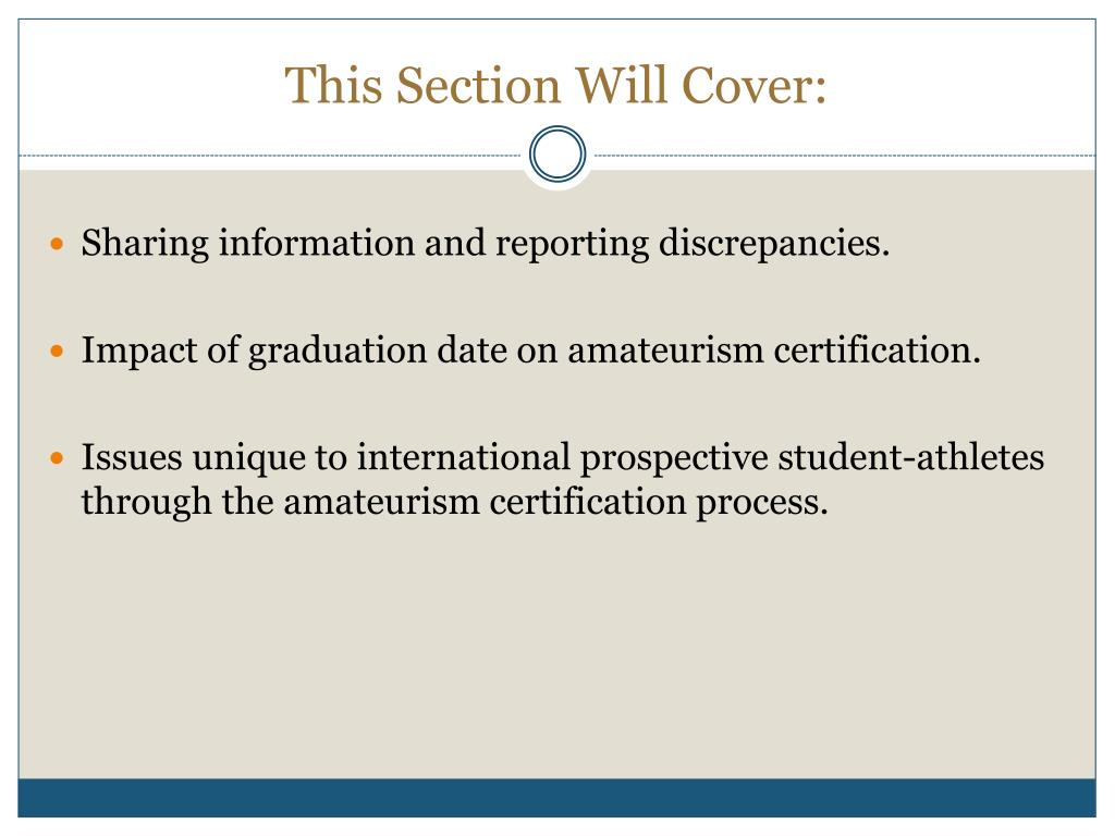 This Section Will Cover: