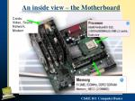 an inside view the motherboard