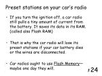 preset stations on your car s radio