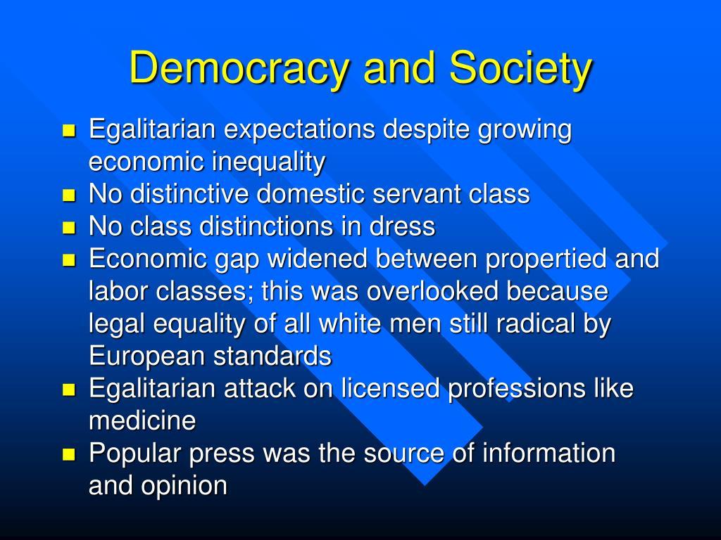 Democracy and Society