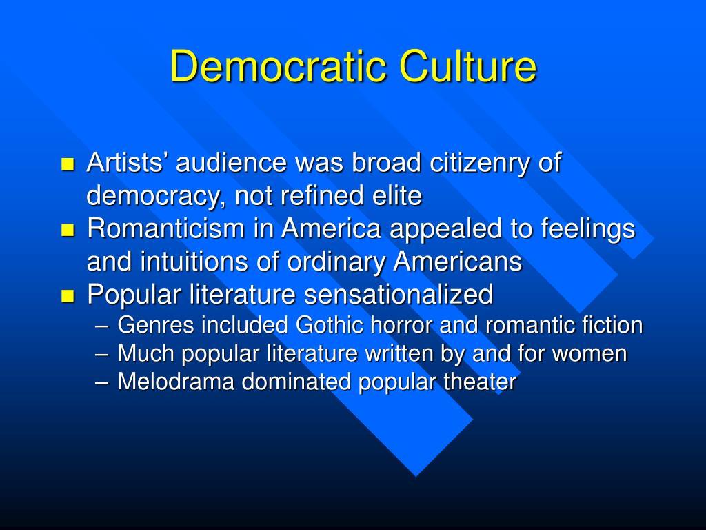 Democratic Culture