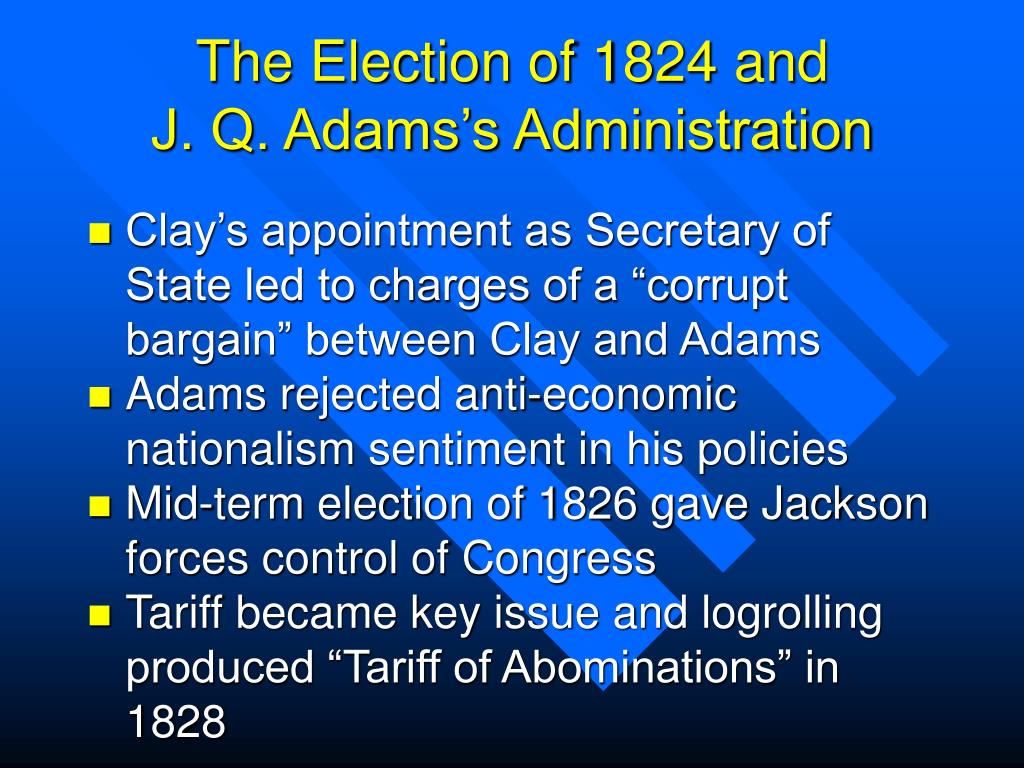 The Election of 1824 and