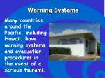 warning systems