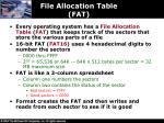 file allocation table fat