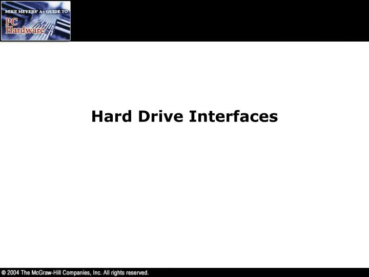 Hard Drive Interfaces