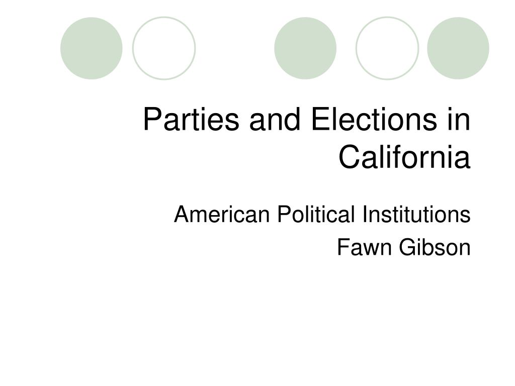 parties and elections in california l.