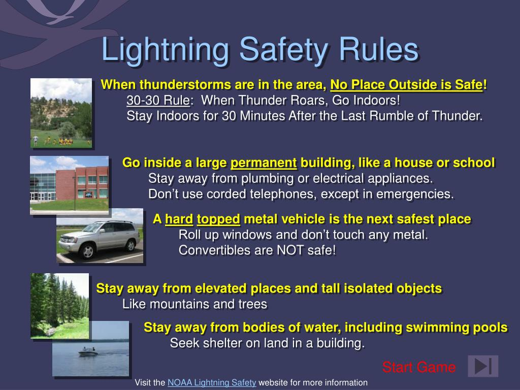 ppt - lightning safety rules powerpoint presentation