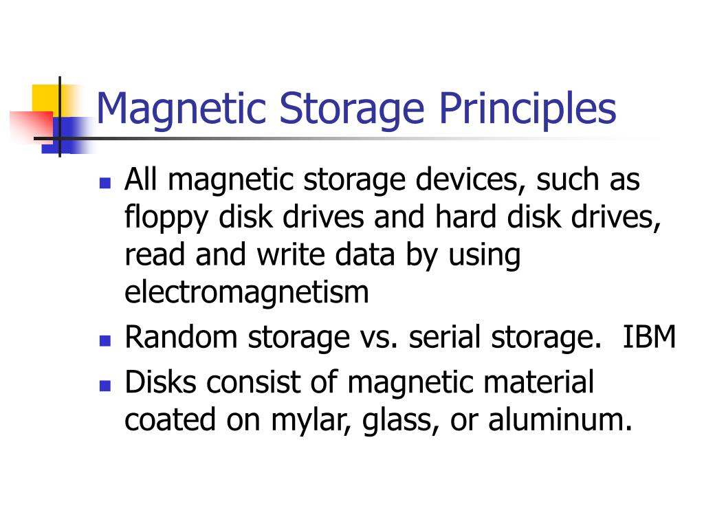 magnetic storage principles l.