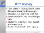 drive capacity