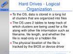 hard drives logical organization