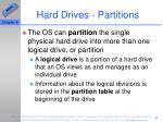 hard drives partitions