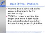 hard drives partitions10