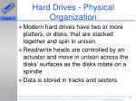 hard drives physical organization